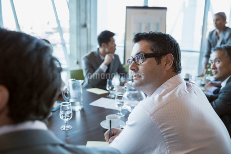 Attentive businessman in conference room meetingの写真素材 [FYI02271230]