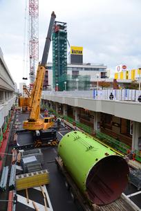 新潟市万代シティの塔解体されるレインボータワーの写真素材 [FYI02278142]