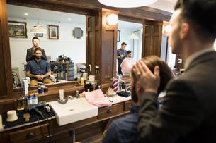 Barber styling manの写真素材 [FYI02284557]