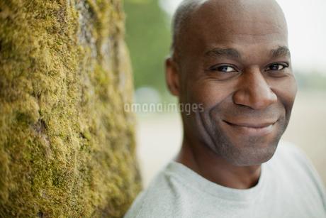 portrait of mature black american manの写真素材 [FYI02286105]