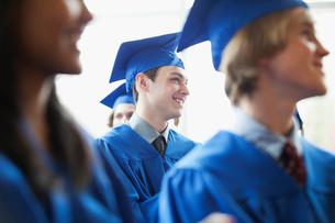 graduates listening to speechの写真素材 [FYI02287342]