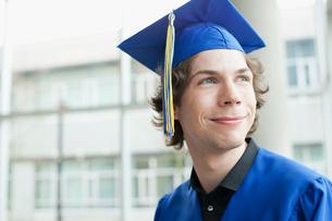portrait of graduate in cap and gownの写真素材 [FYI02288601]