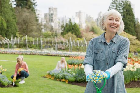 portrait of mature female gardenerの写真素材 [FYI02288932]