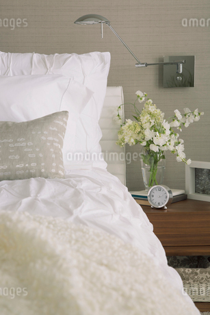 Contemporary bedroom in neutral colors.の写真素材 [FYI02289128]