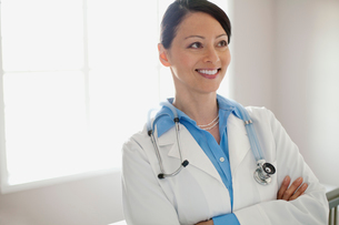 healthcare professional at clinicの写真素材 [FYI02289181]