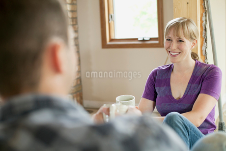 mid adult couple taking a break from renovationsの写真素材 [FYI02289561]