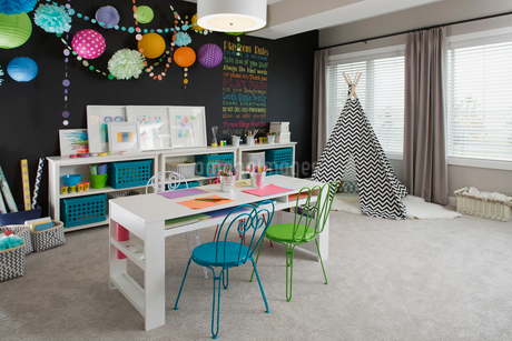 Interior of playroom in houseの写真素材 [FYI02290462]