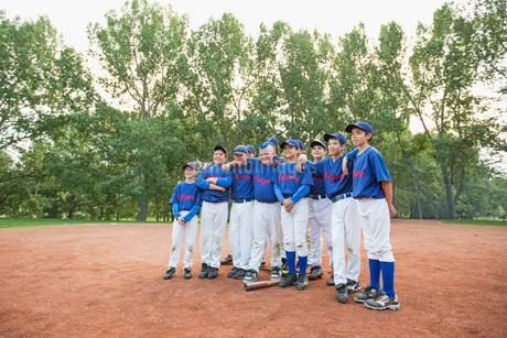 Team photo of boys baseball team.の写真素材 [FYI02291886]