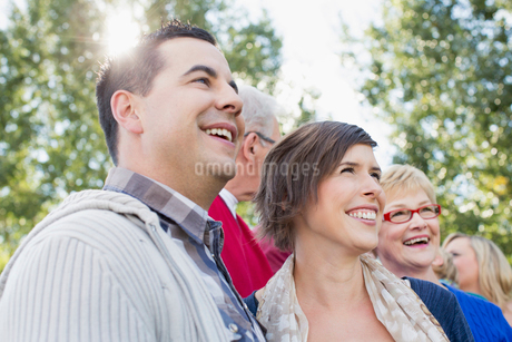 Husband and wife with parents and other family.の写真素材 [FYI02292221]