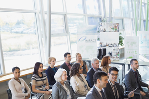 Business people attending conferenceの写真素材 [FYI02292355]