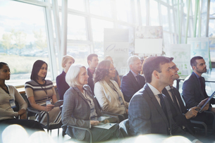 Group of business people attending conferenceの写真素材 [FYI02292467]