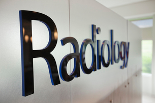 Close-up of radiology signの写真素材 [FYI02293061]