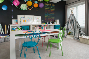 Playroom in contemporary homeの写真素材 [FYI02293175]
