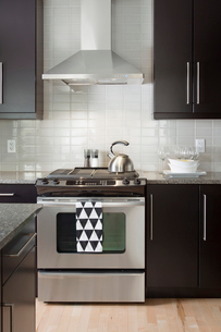 Stove in contemporary kitchenの写真素材 [FYI02293571]