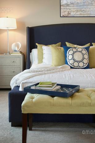 Interior of contemporary bedroomの写真素材 [FYI02293920]