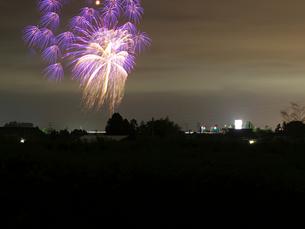 白根大凧合戦花火大会の打ち上げ花火の写真素材 [FYI02294858]