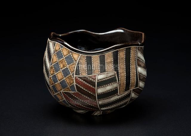 陶器の抹茶茶碗の写真素材 [FYI02306303]