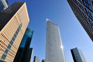 汐留シオサイトの高層ビル群の写真素材 [FYI02308635]