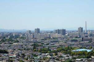練馬区役所展望ロビーから見る北西方向の眺めの写真素材 [FYI02310979]