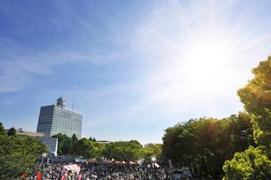 新緑と代々木のイベント広場の写真素材 [FYI02311171]