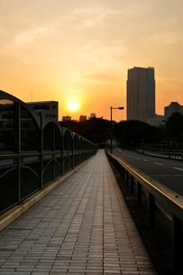 青山陸橋と日の出の写真素材 [FYI02311330]