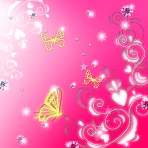 蝶とラインストーンのコラージュのイラスト素材 [FYI02311527]