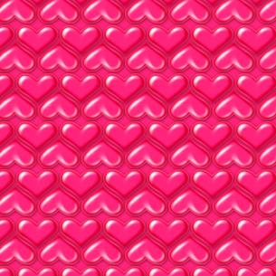 エナメルのハート柄エンボスのイラスト素材 [FYI02311549]