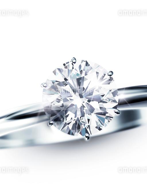 ダイヤモンドリングのイラスト素材 [FYI02311574]