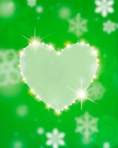 雪の結晶イメージとハートのイラスト素材 [FYI02311661]