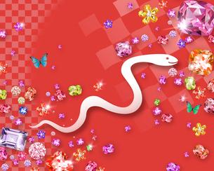 白ヘビとジュエリーのイラスト素材 [FYI02311682]