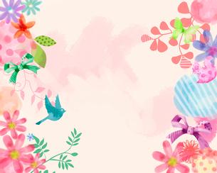 植物とリボンのイラスト素材 [FYI02311735]
