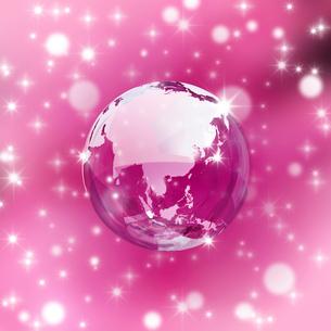 ピンクバックの地球のイラスト素材 [FYI02311744]