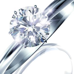 ダイヤモンドリングのイラスト素材 [FYI02311752]