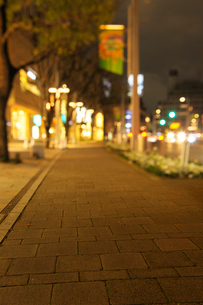夜の六本木けやき坂通りのイルミネーションと石畳の写真素材 [FYI02311792]
