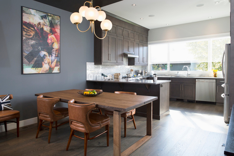 Home showcase interior dining room and kitchenの写真素材 [FYI02314743]