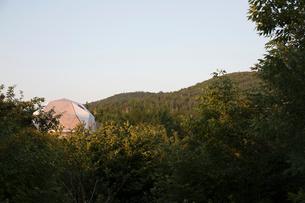 Yurt in remote wildernessの写真素材 [FYI02326425]