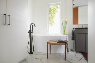 Home showcase bathroom with soaking tubの写真素材 [FYI02326934]