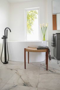 Home showcase bathroom with soaking tubの写真素材 [FYI02328227]