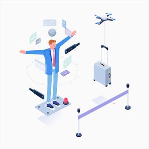 Business through virtual realityのイラスト素材 [FYI02337839]