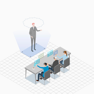Virtual reality related to business meetingのイラスト素材 [FYI02337889]