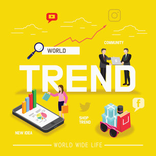 Trend of global businessのイラスト素材 [FYI02337893]