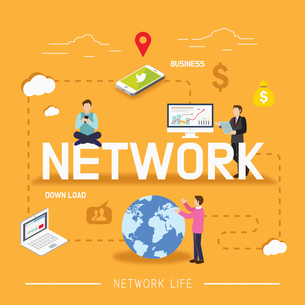 Global business networkのイラスト素材 [FYI02337929]