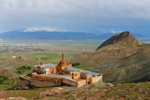 Ishak Pasha Palace, Dogubeyazit, Agri province, Easternの写真素材 [FYI02338137]