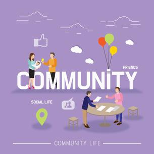 Community lifeのイラスト素材 [FYI02338140]
