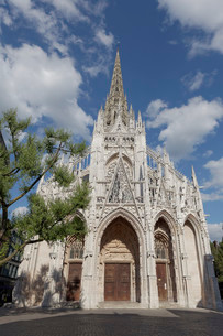 Parish Church of Saint-Maclou, Flamboyant style of Gothicの写真素材 [FYI02338177]