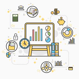 Illustration representing economy and financeのイラスト素材 [FYI02338229]
