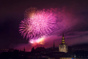 Fireworks, Seenachtsfest festival 2014 with Constanceの写真素材 [FYI02338256]
