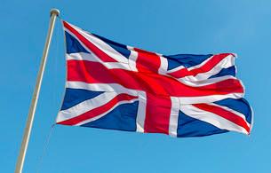 British Flag, Union Jackの写真素材 [FYI02338299]