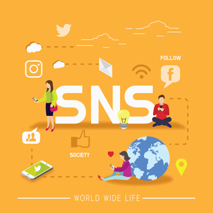 Worldwide SNSのイラスト素材 [FYI02338363]