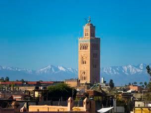 Koutoubia mosque with a minaret from the Almohad periodの写真素材 [FYI02338372]